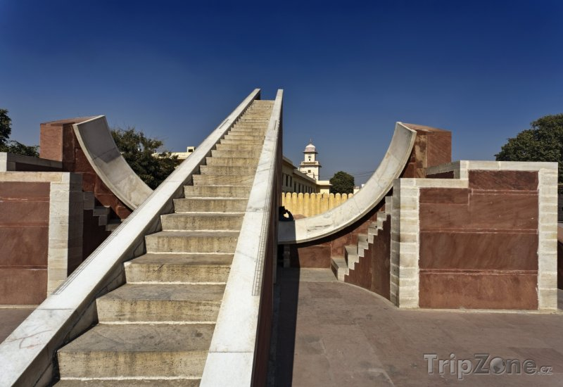 Fotka, Foto Observatoř Jantar Mantar v Jaipuru (Indie)