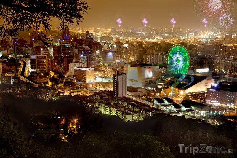 Fotka, Foto Ohňostroj ve městě Taipei (Tchaj-wan)