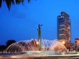 Osvětlená fontána