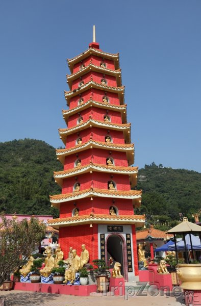 Fotka, Foto Pagoda v Chrámu 10 000 Buddhů (Hongkong)