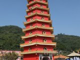 Pagoda v Chrámu 10 000 Buddhů