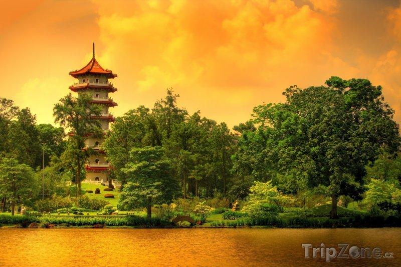 Fotka, Foto Pagoda v Čínských zahradách (Singapur)