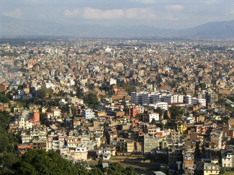 Fotka, Foto Panoramatický pohled na město Káthmándú (Nepál)