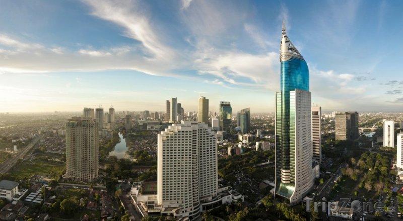 Fotka, Foto Panoramatický pohled na město (Jakarta, Indonésie)