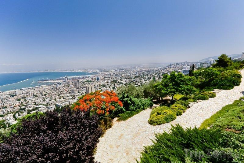 Fotka, Foto Panoramatický pohled na město (Haifa, Izrael)