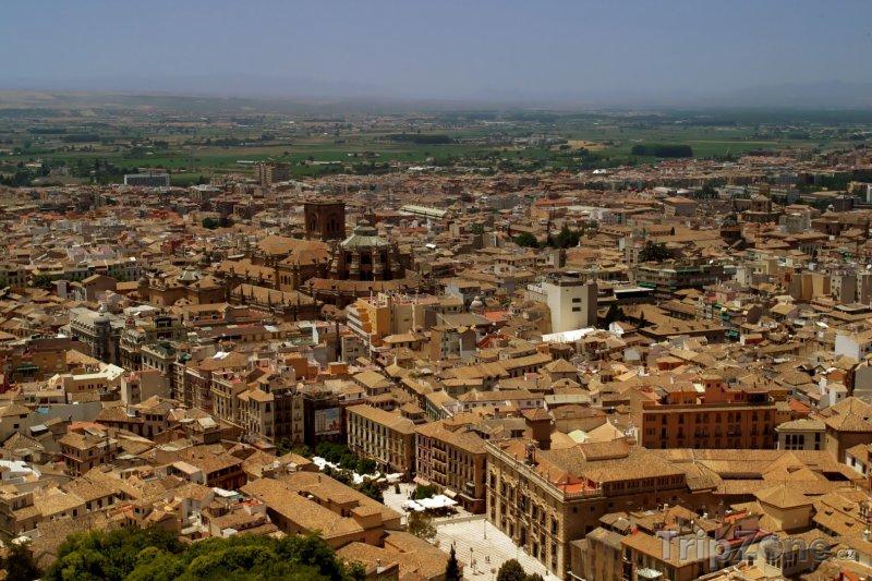 Fotka, Foto Panoramatický pohled na město (Granada, Španělsko)