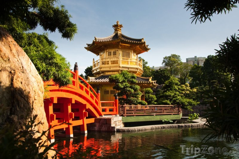 Fotka, Foto Pavilon Dokonalosti v zahradách Nan Lian (Hongkong)