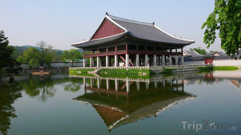 Fotka, Foto Pavilón Gyeonghoeru (Soul, Jižní Korea)