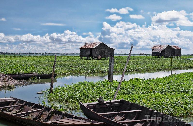 Fotka, Foto Plovoucí domy na jezeře Tonlesap (Kambodža)