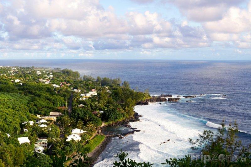 Fotka, Foto Pobřeží obce Manapany (Réunion)