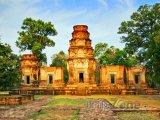 Pohled na chrám Angkor Vat
