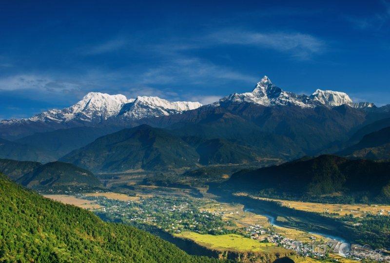 Fotka, Foto Pohled na horský masiv Annapurna (Nepál)