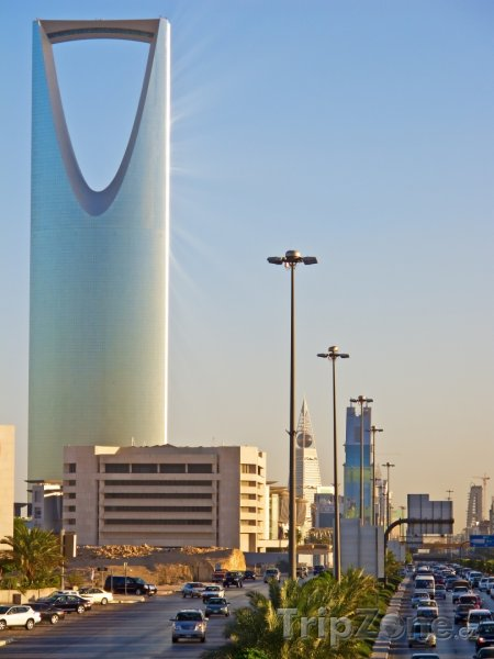Fotka, Foto Pohled na Kingdom Tower (Saúdská Arábie)