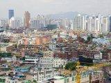 Pohled na město Soul z kopce