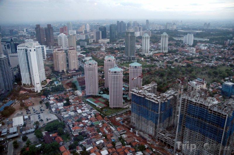 Fotka, Foto Pohled na město z mrakodrapu (Jakarta, Indonésie)