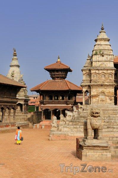 Fotka, Foto Pohled na náměstí Durbar v Bhaktapuru (Nepál)