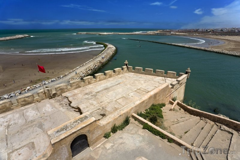 Fotka, Foto Pohled na oceán z pevnosti Udayas (Rabat, Maroko)
