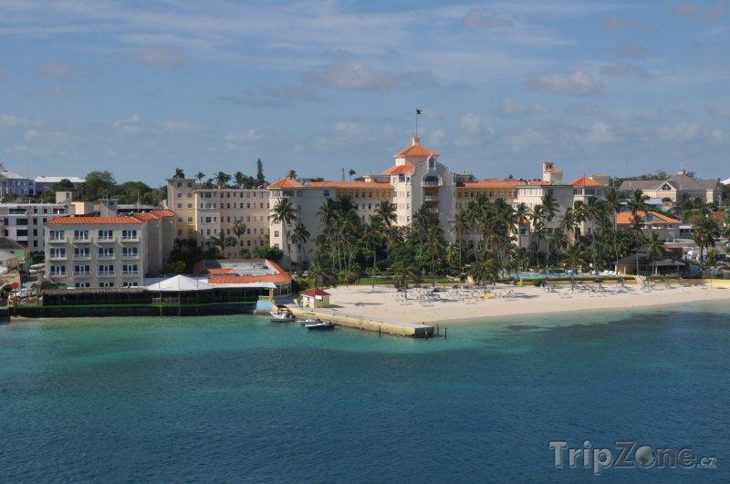 Fotka, Foto Pohled na pláž (Nassau, Bahamy)