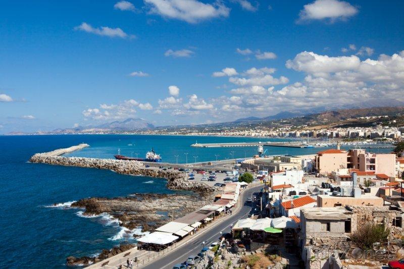 Fotka, Foto Pohled na přístav Rethymno (Kréta, Řecko)