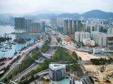 Pohled na Západní Kowloon