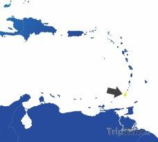 Poloha Grenady na mapě Karibiku