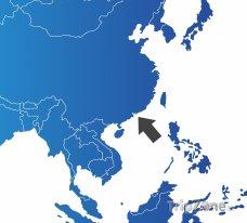 Poloha Hongkongu na mapě Asie