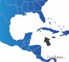 Poloha Kajmanských ostrovů na mapě Karibiku