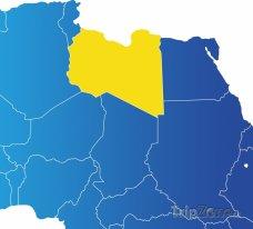 Poloha Libye na mapě Afriky