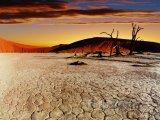 Poušť Namib při západu slunce