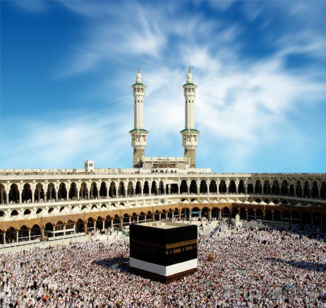 Fotka, Foto Poutníci ve Velké mešitě (Saúdská Arábie)