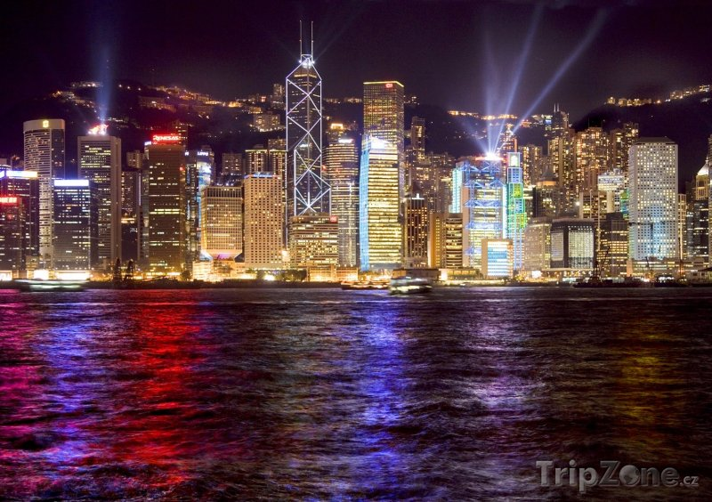 Fotka, Foto Přístav v noci (Hongkong)