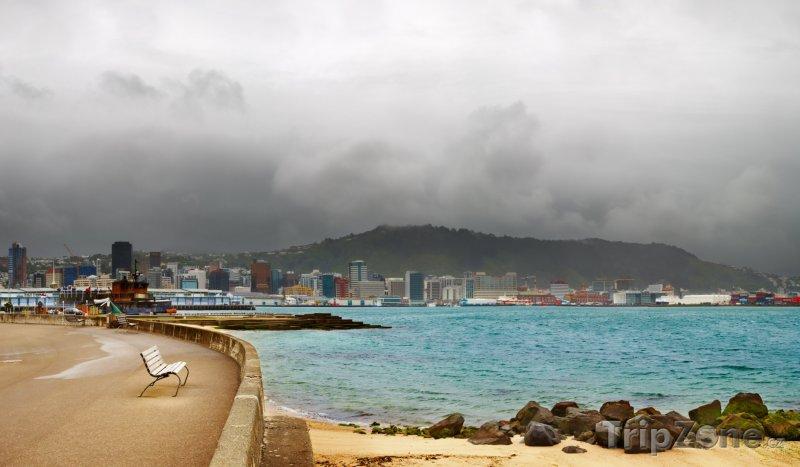 Fotka, Foto Promenáda v přístavu (Wellington, Nový Zéland)