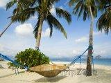 Ratanová houpací síť na ostrově Palawan