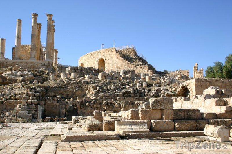 Fotka, Foto Římské ruiny ve městě Jerash (Jordánsko)