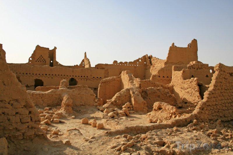 Fotka, Foto Ruiny u města Diriyah (Saúdská Arábie)