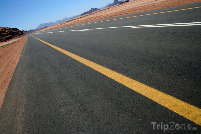 Fotka, Foto Silnice v poušti (Saúdská Arábie)