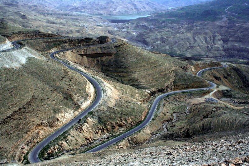 Fotka, Foto Silnice v rokli Wadi Mujib (Jordánsko)
