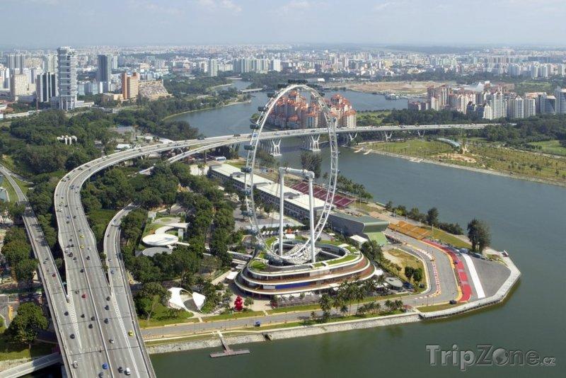 Fotka, Foto Singapore flyer, největší Ruské kolo na světě (Singapur)