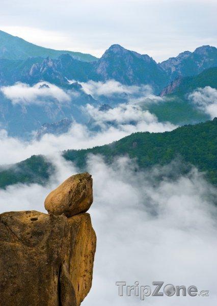 Fotka, Foto Skála v národním parku Seoraksan (Jižní Korea)