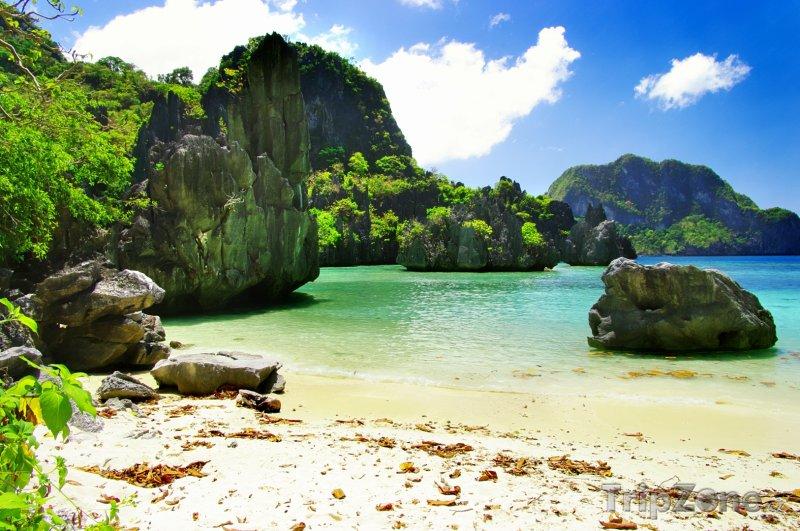 Fotka, Foto Skály u pobřeží (Filipíny)