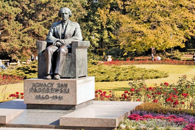 Fotka, Foto Socha Ignace Jana Paderewskiho (Varšava, Polsko)