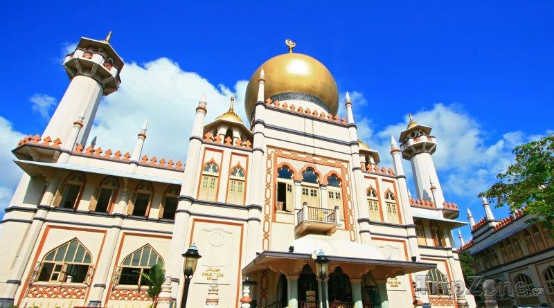 Fotka, Foto Sultánova mešita v Arabské ulici (Singapur)