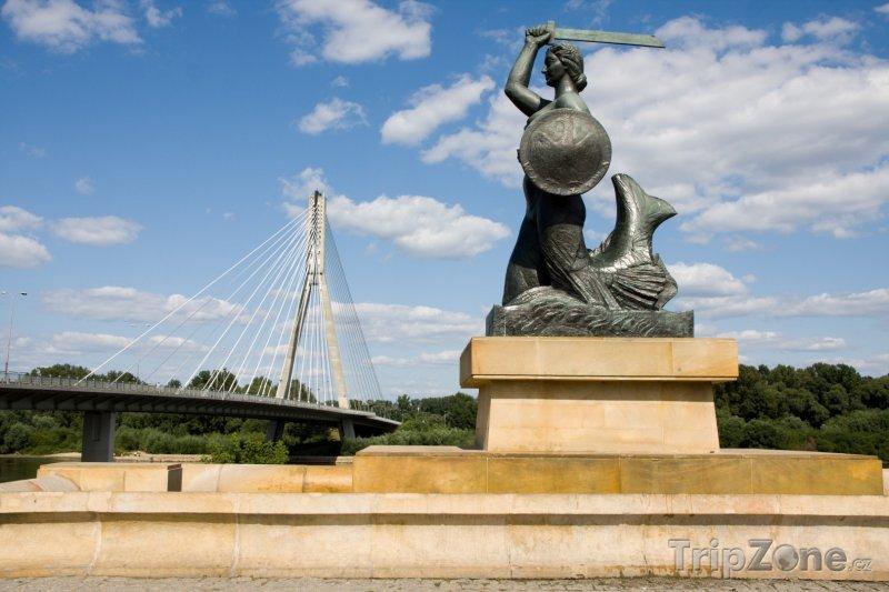 Fotka, Foto Syrenka, socha mořské panny (Varšava, Polsko)