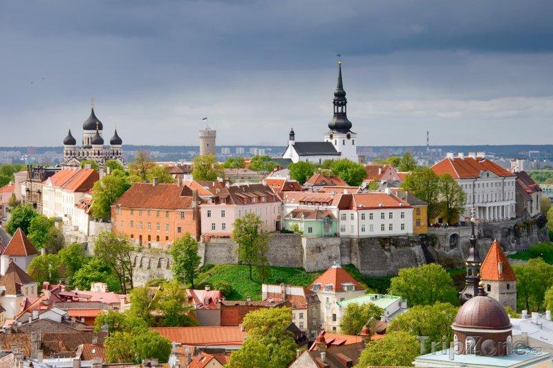 Fotka, Foto Tallinn, pohled na město (Estonsko)
