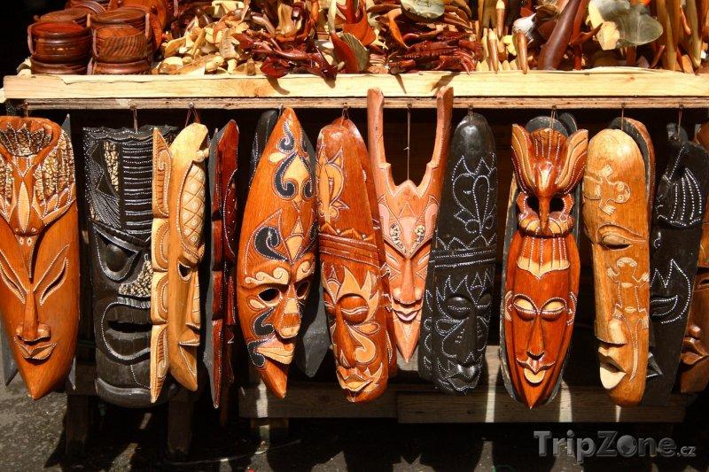 Fotka, Foto Tradiční bahamské masky (Nassau, Bahamy)
