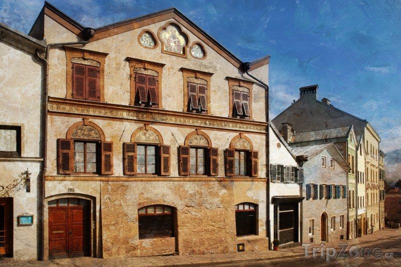 Fotka, Foto Tradiční domy ve staré části města (Innsbruck, Rakousko)