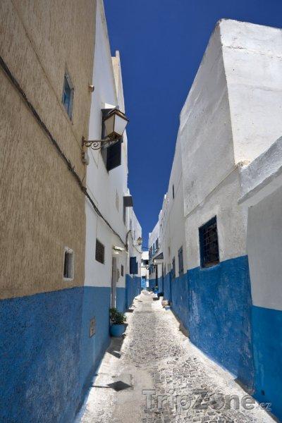 Fotka, Foto Ulička v pevnosti Udayas (Rabat, Maroko)