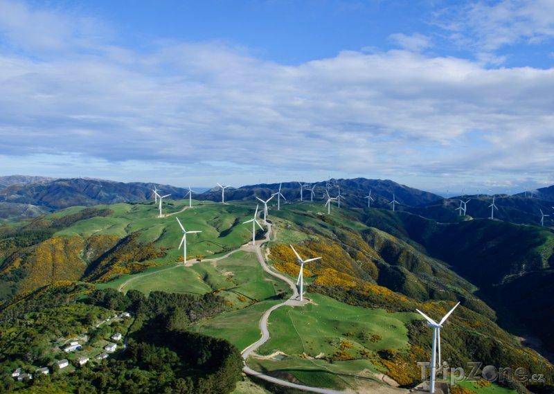 Fotka, Foto Větrné mlýny (Wellington, Nový Zéland)