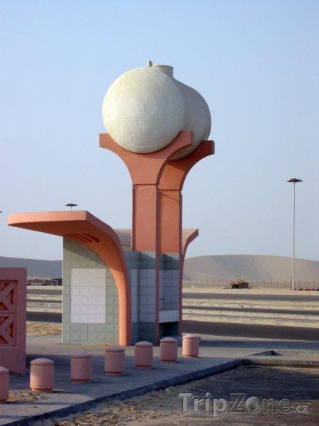 Fotka, Foto Vodní nádrž v poušti (Saúdská Arábie)