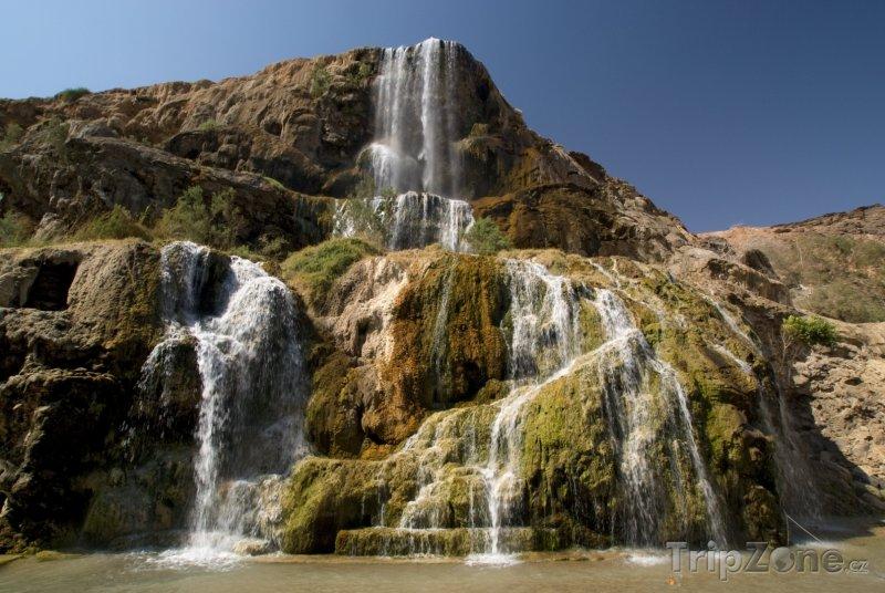 Fotka, Foto Vodopád Ma'in Hot Springs (Jordánsko)